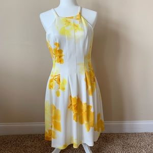 Calvin Klein floral pleated dress #54